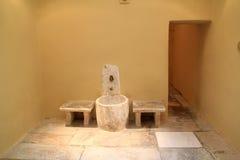 Intérieur de Bath turc de tabouret sur l'île de Kos en Grèce Photos stock