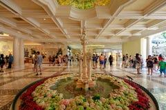 Intérieur de Bellagio, d'une station de vacances, d'hôtel de luxe et de casino sur la bande de Las Vegas Photo libre de droits