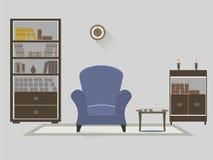 Intérieur 2 de bibliothèque Image libre de droits