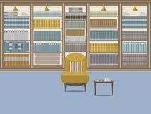 Intérieur 1 de bibliothèque Images stock