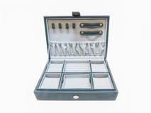 Intérieur de boîte à bijoux de plan rapproché. Images libres de droits