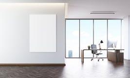Interieur De Bureau Avec L Affiche Illustration Stock