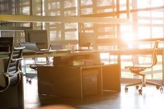Intérieur de bureau d'espace de travail Photo stock