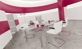 Intérieur de bureau de rose de conception moderne Photo stock
