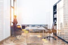 Intérieur de bureau du directeur modifié la tonalité Photo libre de droits