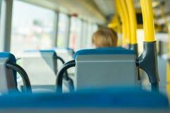 Intérieur de bus de ville Photos libres de droits