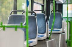 Intérieur de bus moderne de ville Image libre de droits