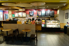 Intérieur de café d'aéroport Image stock