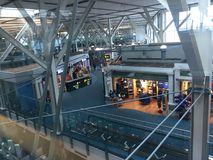 Intérieur de Canada d'aéroport de Vancouver Photo libre de droits