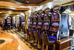 Intérieur de casino de jeu, revêtement Costa Mediterranea de croisière Photo stock