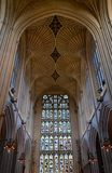 Intérieur de cathédrale de Bath Photographie stock libre de droits
