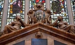 Intérieur de cathédrale de Bath Images libres de droits