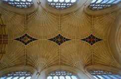 Intérieur de cathédrale de Bath Photos stock