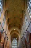 Intérieur de cathédrale de Bath Image libre de droits