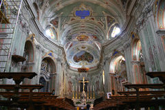 Intérieur de cathédrale de Cervo, Italie photo libre de droits