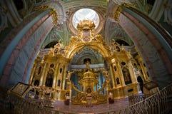 Intérieur de cathédrale de Peter et de Paul à St Petersburg Image stock