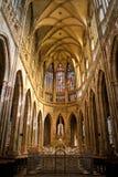 Intérieur de cathédrale de rue Vitus Image libre de droits