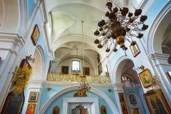 Intérieur de cathédrale de Saint-Esprit à Minsk - Image libre de droits