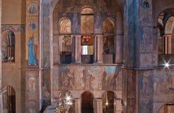 Intérieur de cathédrale de Sofia à Kiev Photographie stock