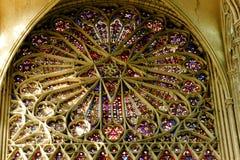 Intérieur de cathédrale du ` s d'Amiens Photo libre de droits