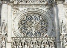 Intérieur de cathédrale du ` s d'Amiens Photo stock
