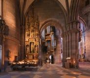 Intérieur de cathédrale de Fribourg Photo stock