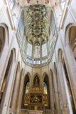 Intérieur de cathédrale, Kutna Hora, site d'héritage de l'UNESCO, Bohême centrale, République Tchèque Photos stock