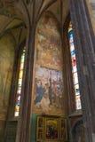 Intérieur de cathédrale, Kutna Hora, site d'héritage de l'UNESCO, Bohême centrale, République Tchèque Photo libre de droits