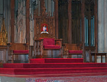 Intérieur de cathédrale Manhattan, New York City du ` s de St Patrick Photos stock