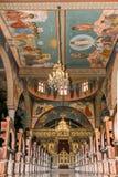 Intérieur de cathédrale de Melkite Photo stock