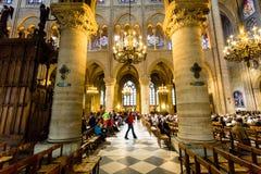 intérieur de cathédrale, Notre Dame De Paris Photos libres de droits