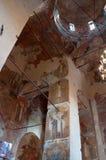 Intérieur de cathédrale de notre Madame du connexion Veliky Novgorod, Russie , Veliky Novgorod, Russie Photo stock