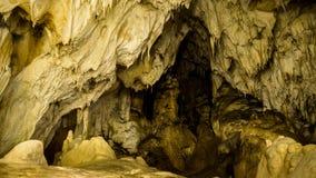 Intérieur de caverne de glacier de Vartop, montagnes d'Apuseni, Roumanie photographie stock libre de droits