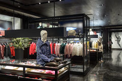 Intérieur de centre commercial de Hong Kong Image stock