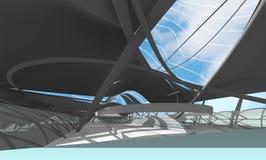 Intérieur de centre national pour les Jeux Olympiques aquatiques image libre de droits