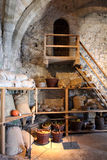Intérieur de château de Chillon chillon de de château photos libres de droits