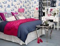 Intérieur de chambre à coucher Photographie stock