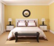 Intérieur de chambre à coucher. illustration de vecteur