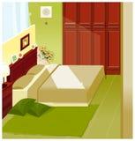Intérieur de chambre à coucher Photo stock