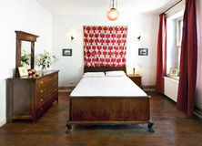 Intérieur de chambre à coucher Image libre de droits