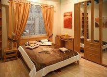 Intérieur de chambre à coucher Photographie stock libre de droits