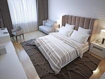 Intérieur de chambre à coucher d'hôtel Image libre de droits