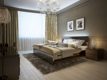 Intérieur de chambre à coucher dans le style moderne illustration de vecteur
