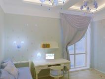 Intérieur de chambre à coucher du `s d'enfant Image libre de droits