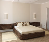 Intérieur de chambre à coucher moderne Image stock