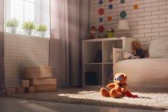 Intérieur de chambre à coucher pour l'enfant Photographie stock