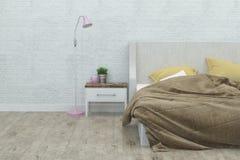 Intérieur de chambre à coucher rendu 3d Photographie stock