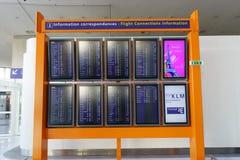Intérieur de Charles de Gaulle Airport Photos libres de droits