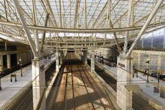 Intérieur de Charles de Gaulle Airport Image libre de droits