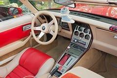 Intérieur de Chevrolet Corvette Photographie stock